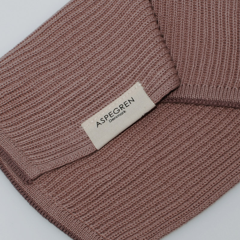 Dishcloth Knitted Design Aspegren Ripple Mauve