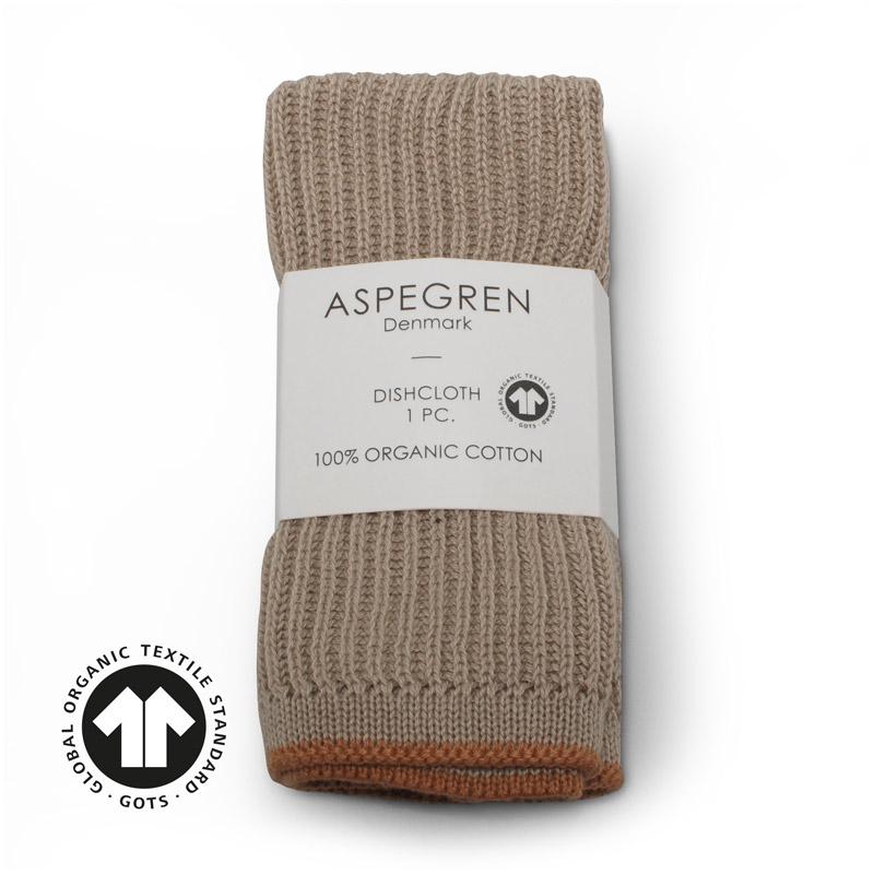 Dishcloth Knitted Design Aspegren Ripple Shell