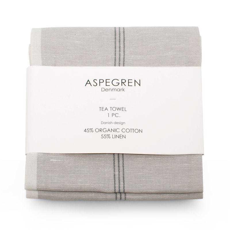 Geschirrtücher Design Aspegren Pinstripes Silver Gray