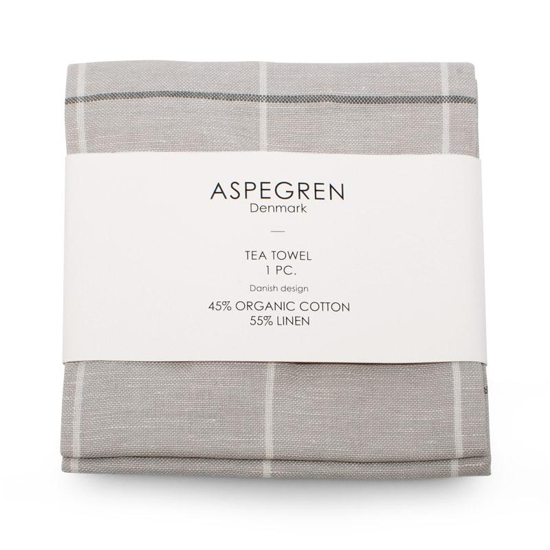 Viskestykker Design Aspegren Squares Silver Gray