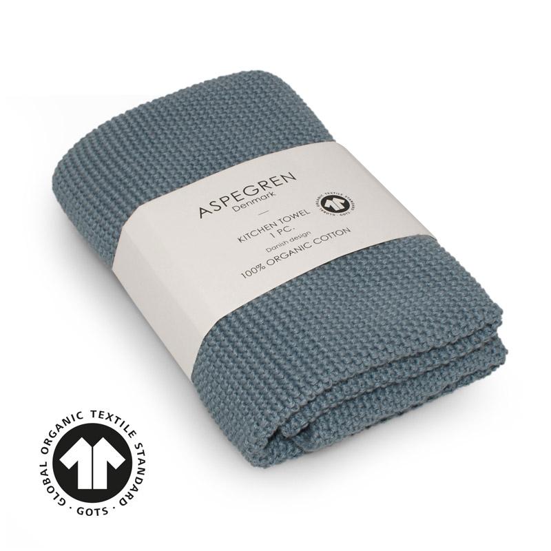 Handtuch Gestricktes Design Aspegren Solid Blue Sky