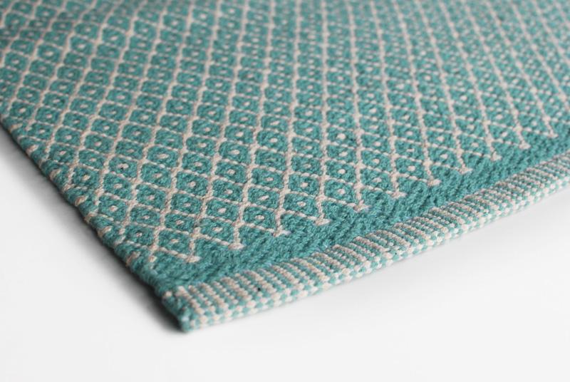 Gulvløber Design Rhombe Jade Green 70x130